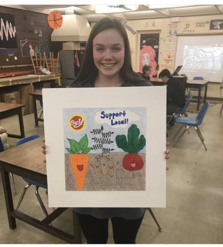 Erin and her winning design