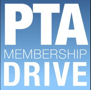 Graphic saying PTA Membership Drive