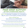 Peer Grief Support Overdose Death new group forming.  See attached flyer or contact School Nurse Jean Hobbie for more information.